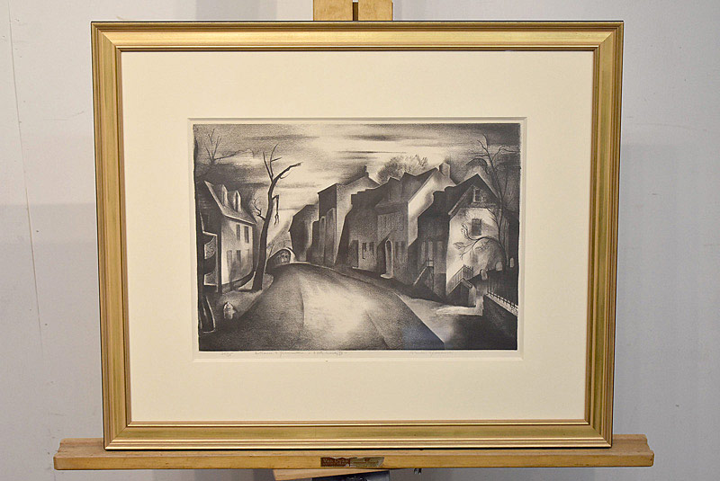 654. Benton Murdoch Spruance Lithograph. Entrance to Germantown. | $649