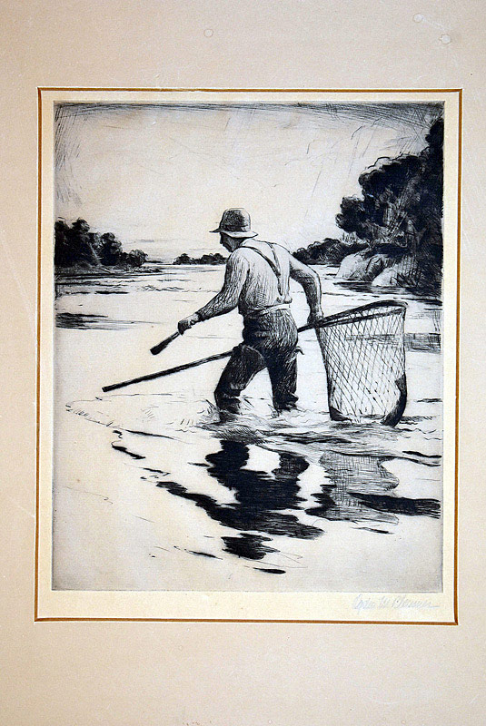 655. Ogden M. Pleissner Etching. Reflections. | $461.25