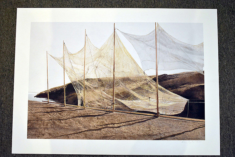 659. Signed & Numbered Andrew Wyeth Print, Pentecost. | $2,214.