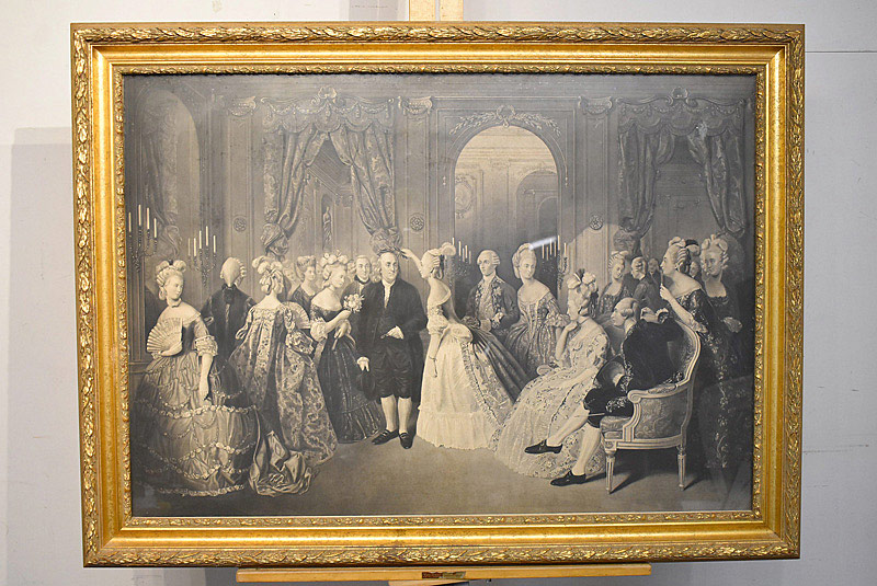 676. William Overend Geller Engraving. B. Franklin at the French Court. | $413