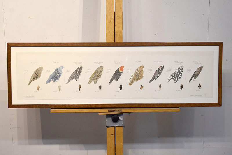 678. JoAnna Poehlmann Stone Lithograph. Flight Patterns. | $307.50