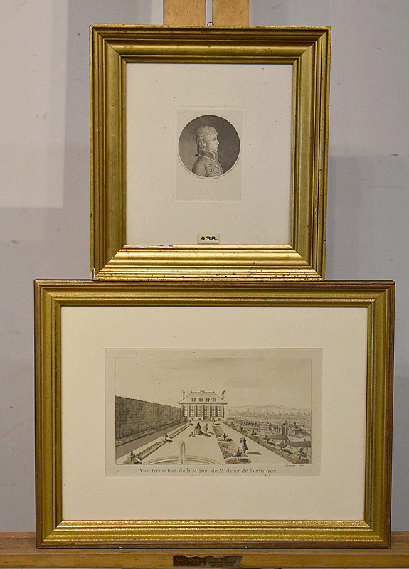684. Lot of Two 19th C. French Engravings. | $61.50