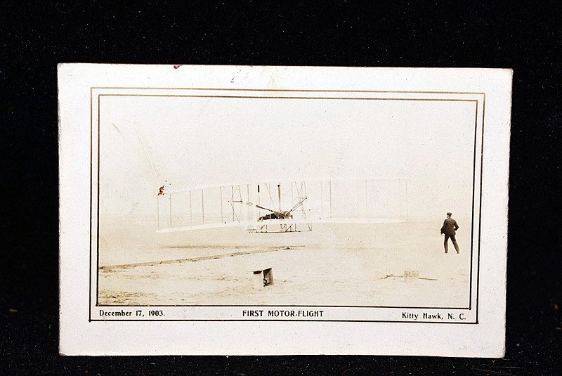 700. Orville Wright Autographed Photo with Wing Fragments. | $1,968