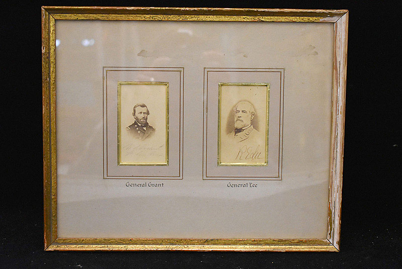 701. Two Signed Cartes de Visite: Robert E. Lee & Ulysses S. Grant. | $2,706
