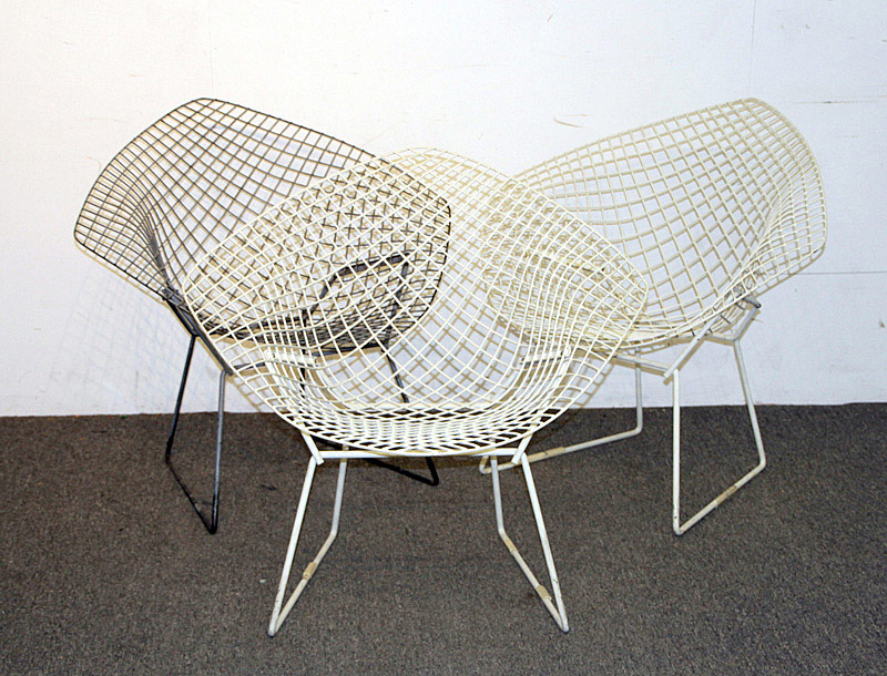 709. Three Bertoia for Knoll Diamond Chairs. | $307.50