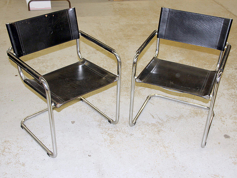 711. Pair of Breuer-style Armchairs. | $106.20