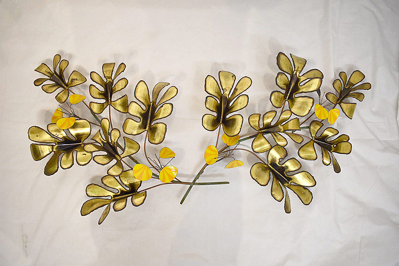 724. Curtis Jere Mixed Metal Wall Sculpture, 1969. | $276.75