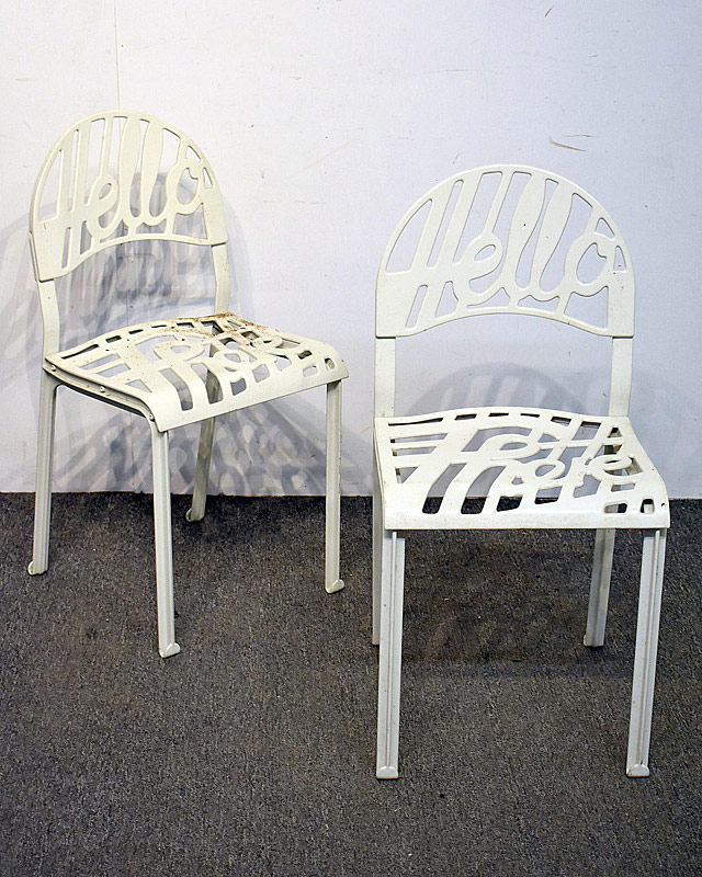 "726. Pair of Jeremy Harvey/Artifort ""Hello There\"" Chairs. 