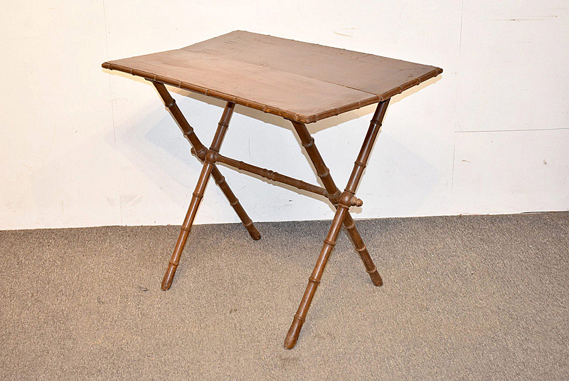 739. French Faux Bamboo Folding Table. | $49.20