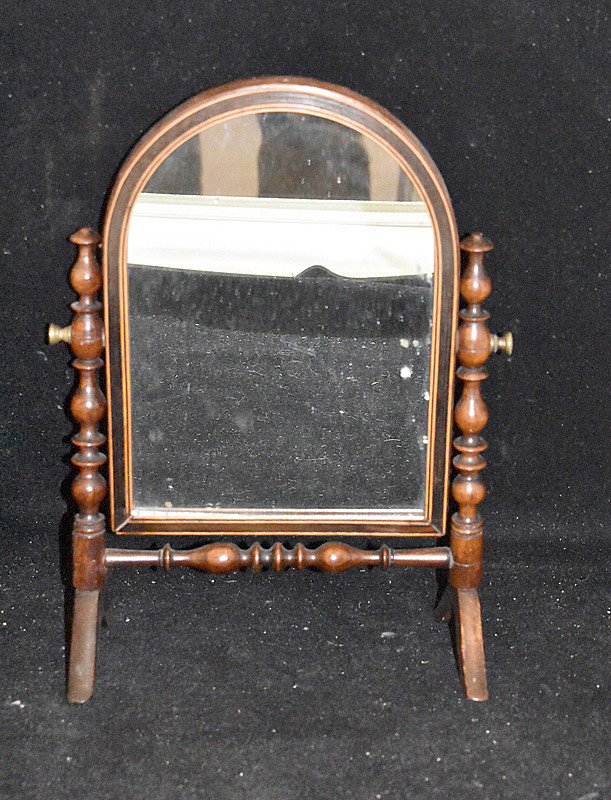 742. 19th C. English Regency Miniature Cheval Mirror. | $215.25