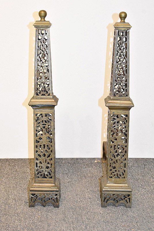 752. Pair of French Empire-style Andirons. | $553.50