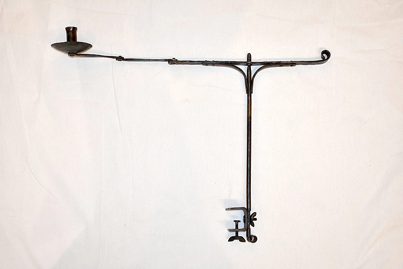 754. Wrought Iron Clamp Mount Candlestand. | $98.40