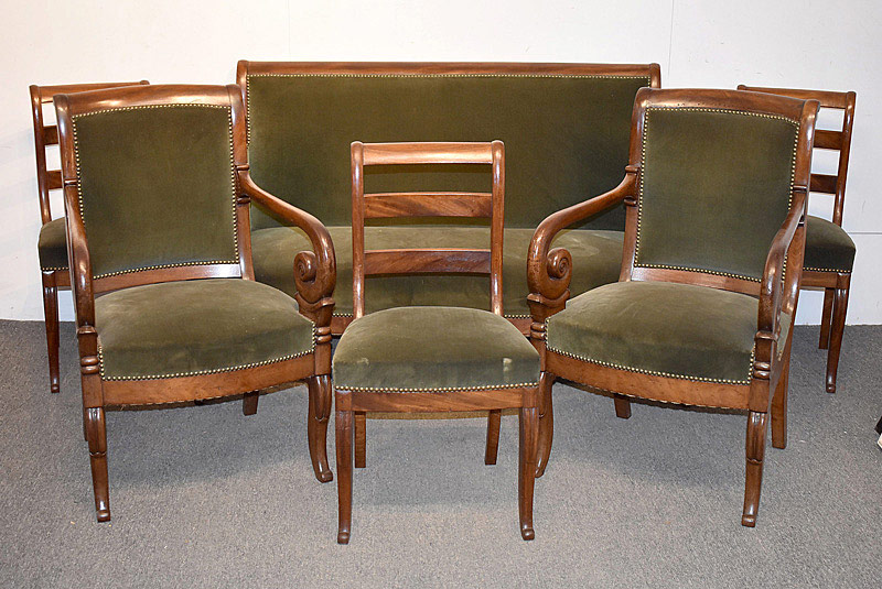 762. Six Piece 19th C. Biedermeier Parlor Suite. | $885