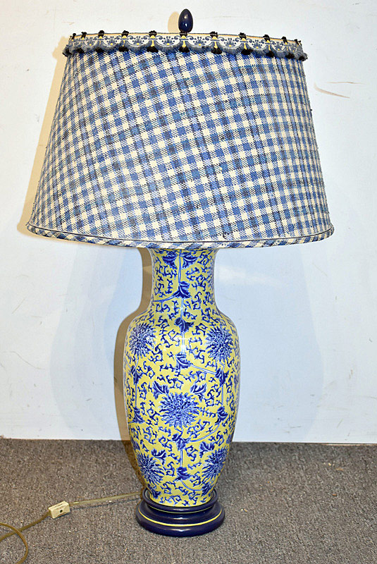 764. Chinese Porcelain Vase-form Table Lamp | $61.50
