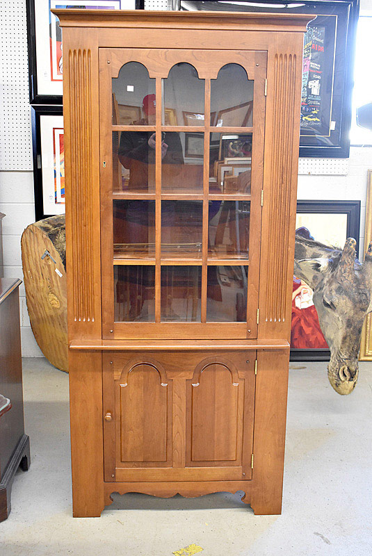 768. Stickley Cherry Corner Cupboard. | $553.50