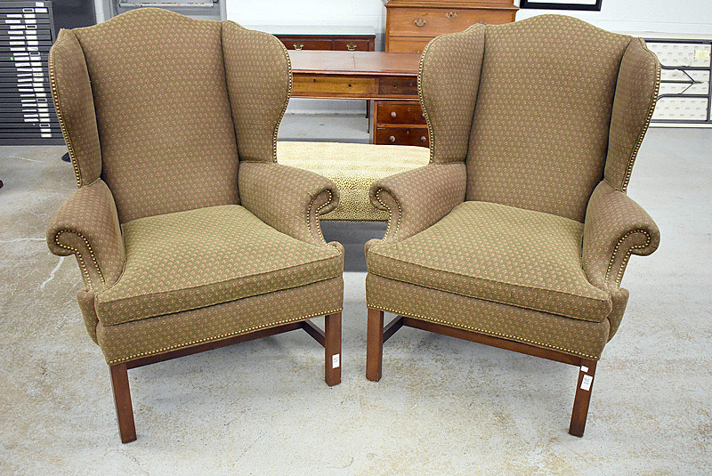 780. Pair of Chippendale-style Wing Chairs. | $276.75