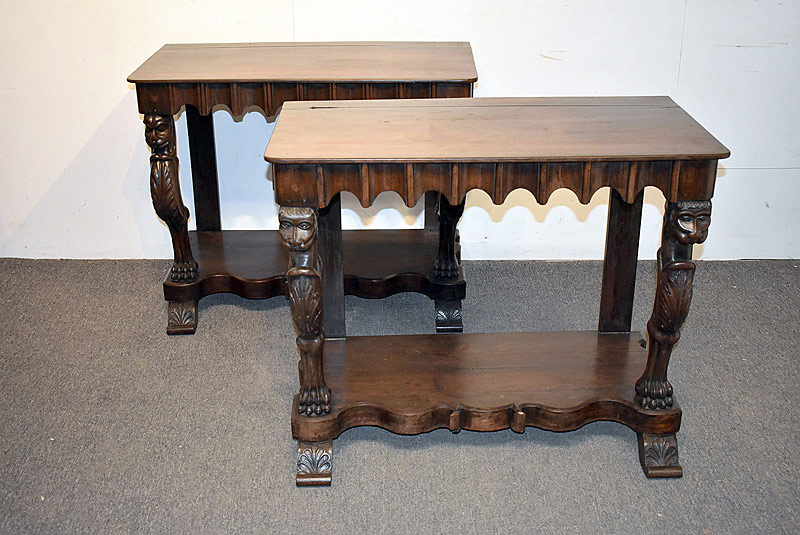 786. Pair of Regency Rosewood Pier Tables. | $922.50