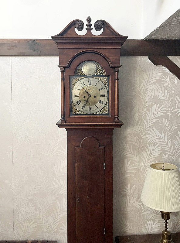 788. Thomas Crow, Wilmington Chippendale Tall Case Clock. | $4,956