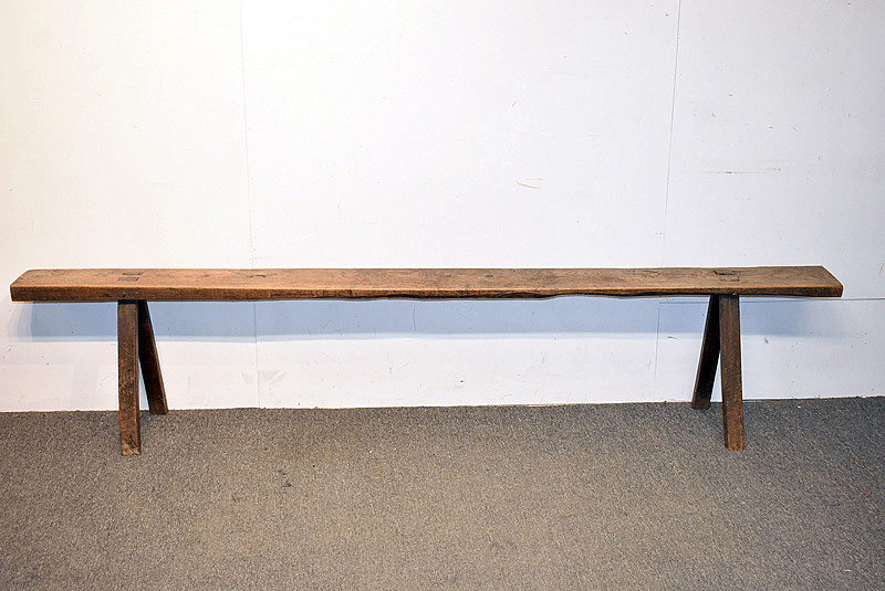 791. English Mortised Bench. | $123