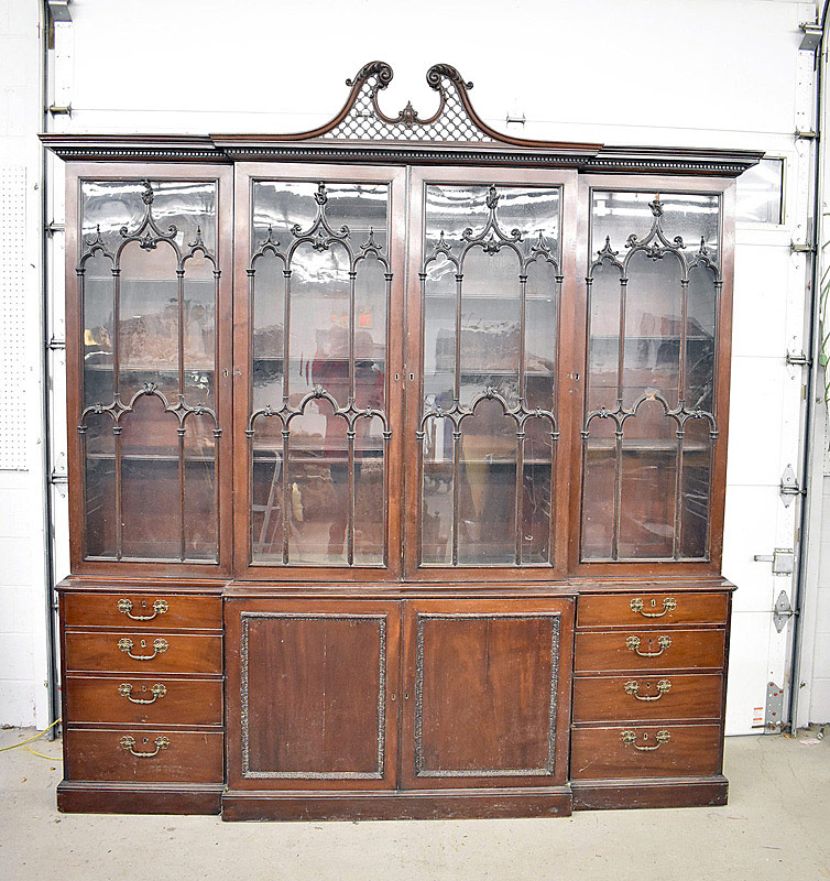793. Georgian Mahogany Breakfront Bookcase. | $1,534
