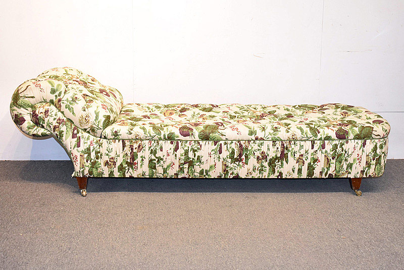 794. Tufted Floral Upholstered Chaise Lounge. | $61.50