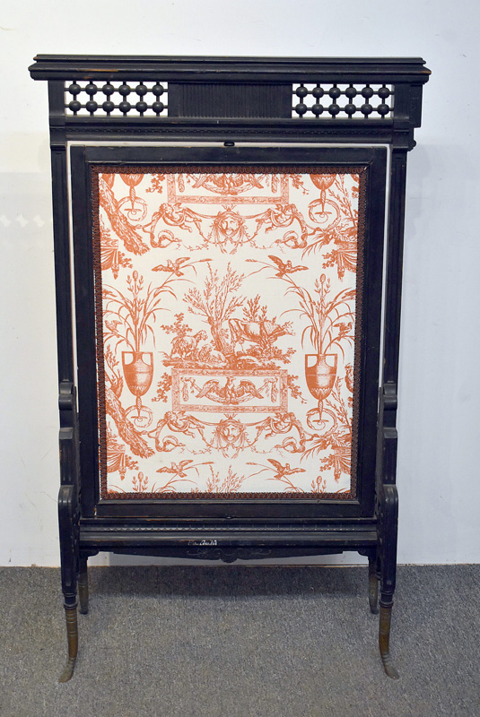 802. Victorian Ebonized Fireplace Screen. | $61.50