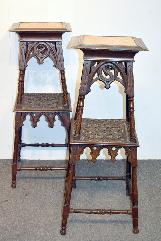 804. Pair of Gothic Revival Fern Stands. | $307.50