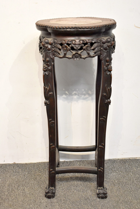 808. Chinese Rosewood Fern Stand.   $110.70