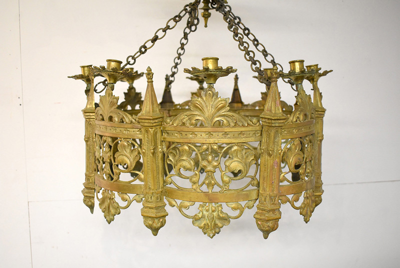 810. Gothic Revival Eight-Light Chandelier. | $110.70