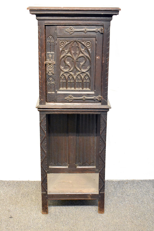 811. Gothic Revival Altar Cabinet. | $206.50