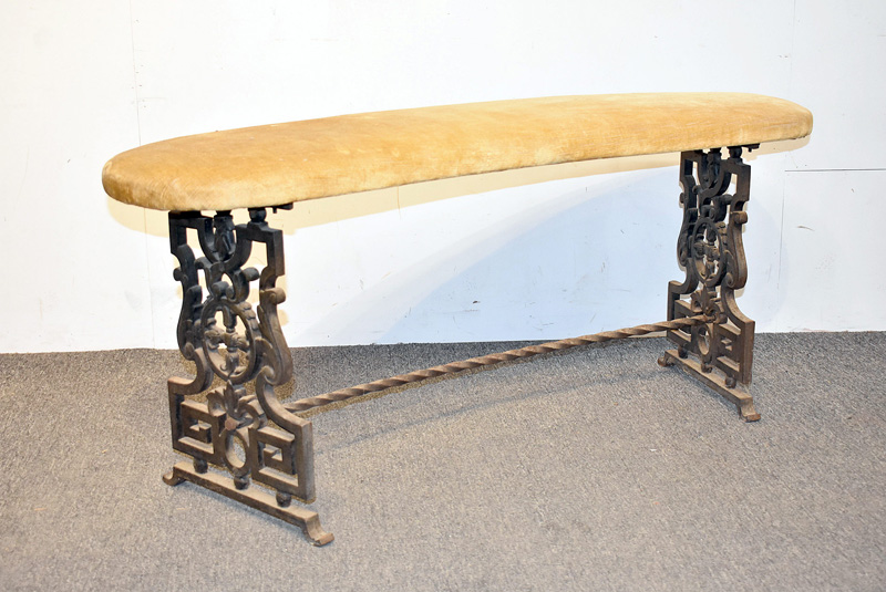 813. Victorian Cast Iron Fireplace Bench	. | $153.75
