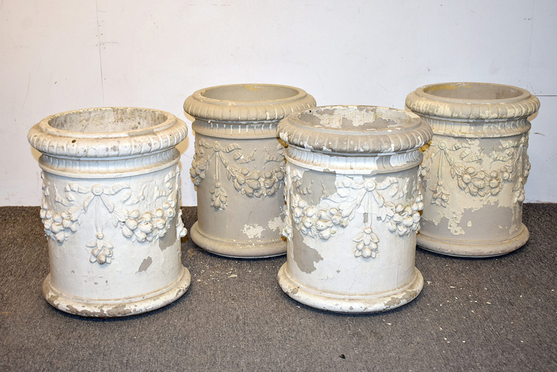 817. Four Galloway Pottery Garden Urns. | $584.25