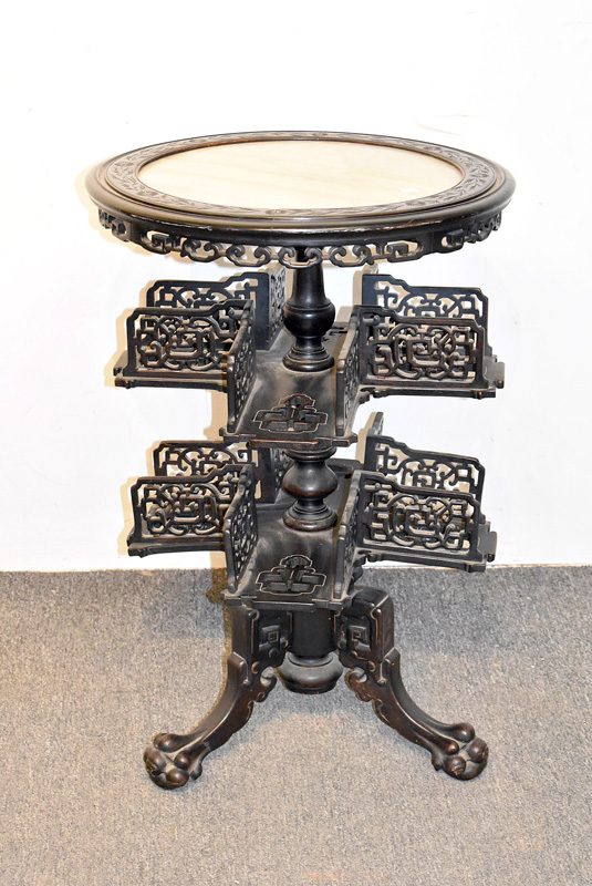 837. Victorian Ebonized Book Stand. | $461.25