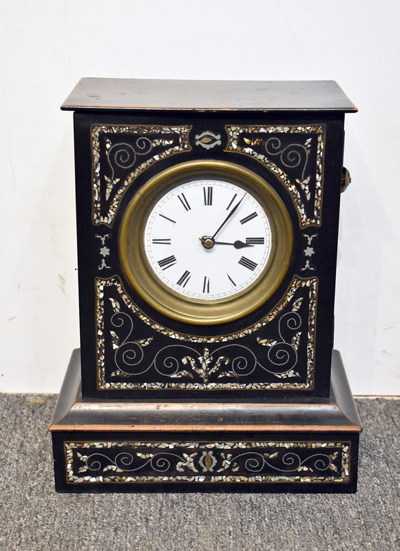 848. Victorian Ebonized Mantle Clock. | $61.50