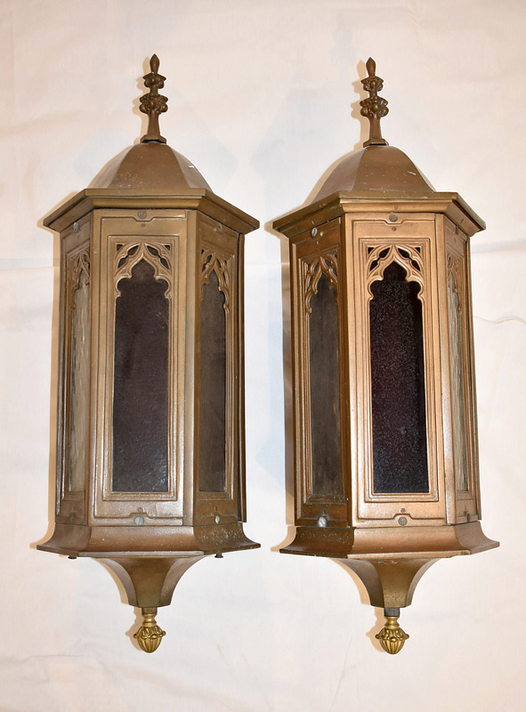 860. Pair of Gothic Revival Hexagonal Lanterns. | $461.25