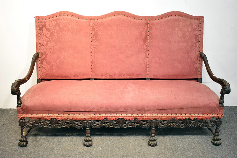 876. Jacobean-style Carved Settee. | $123