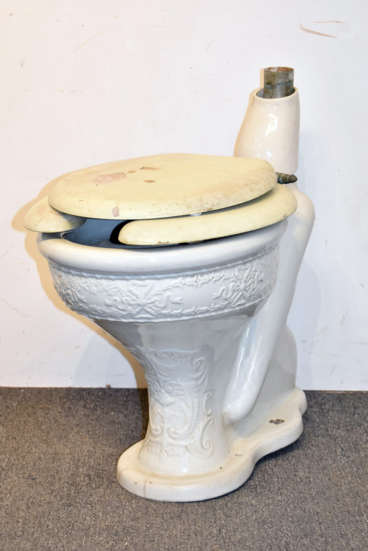 877. Late 19th C. Haines, Jones, & Cadbury Porcelain Toilet. | $184.50