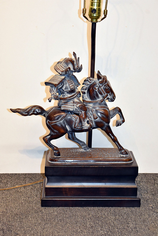 878. Chinese Warrior on Horseback Table Lamp. | $82.60