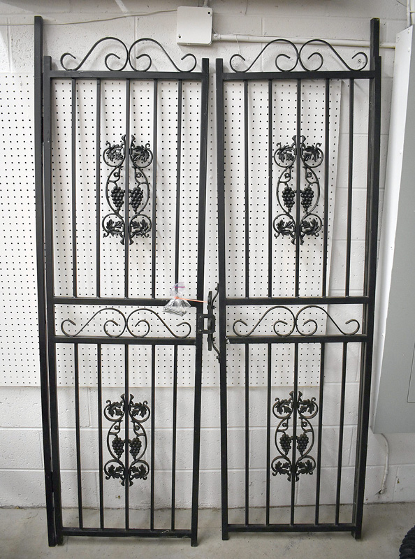 886B. Pair of Iron Gates with Grape Bunches. | $123