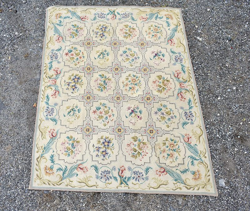 893. French Savonnerie-style Carpet, 6ft 5in x 4ft 10in. | $123