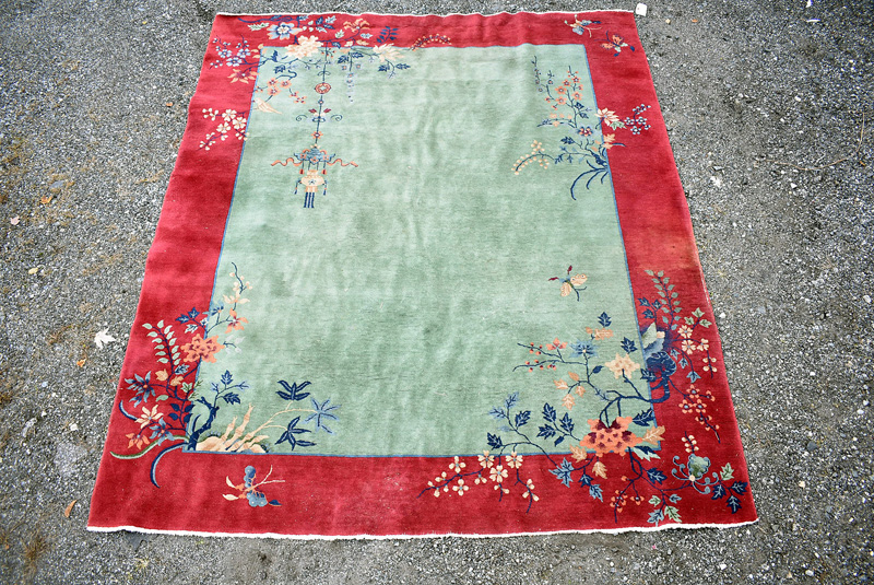 902. Chinese Deco Room-Size Carpet, 9ft 6in x 7ft 9in | $708