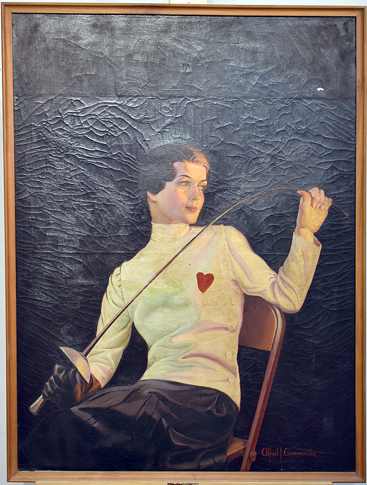 Alfred J. Cammarata Oil/Canvas, Female Fencer. $31,860