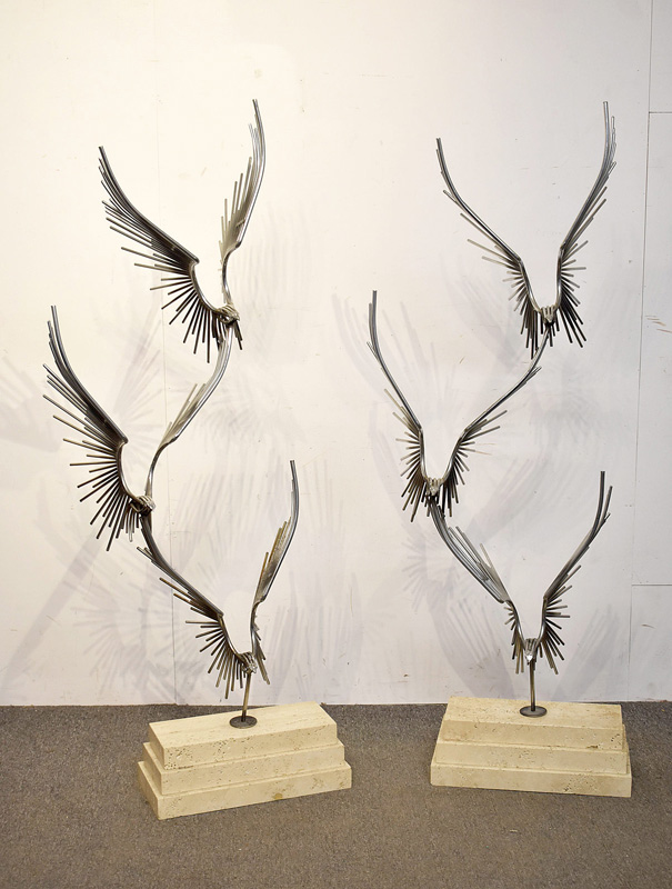 17A. Pair of Curtis Jere Eagles Floor Sculptures |  $861
