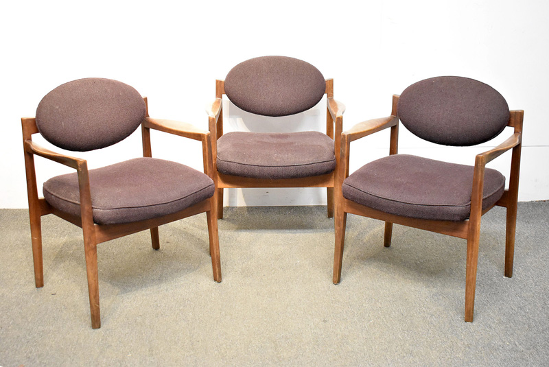 17H. Three Jens Risom Lounge Chairs |  $430.50