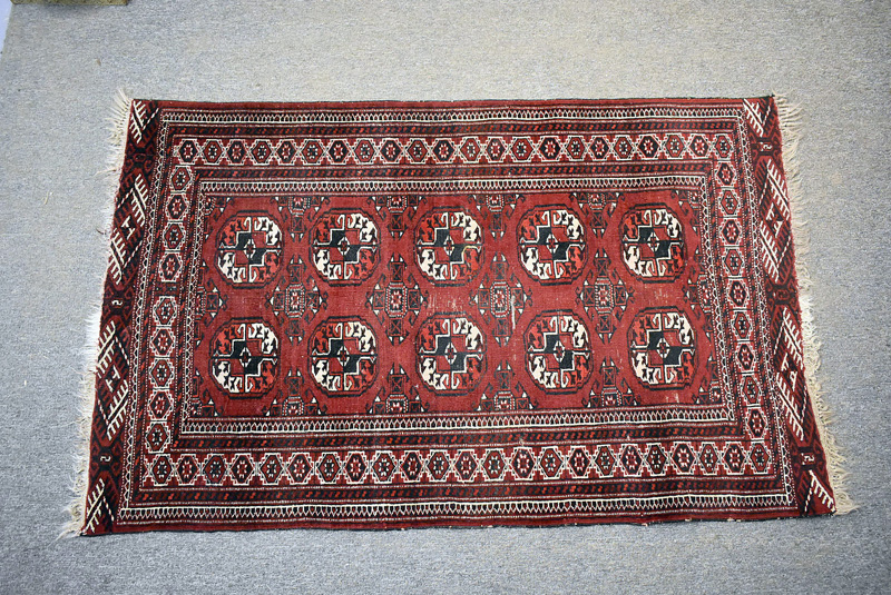 73.  Bokhara Area Carpet, 5ft 4in x 3ft 5in |  $61.50