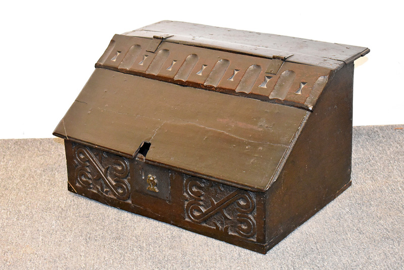 96. English Jacobean Carved Box/Writing Casket |  $265.50