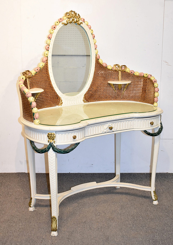 102. Louis XV-style Vanity Table and Bench |  $246