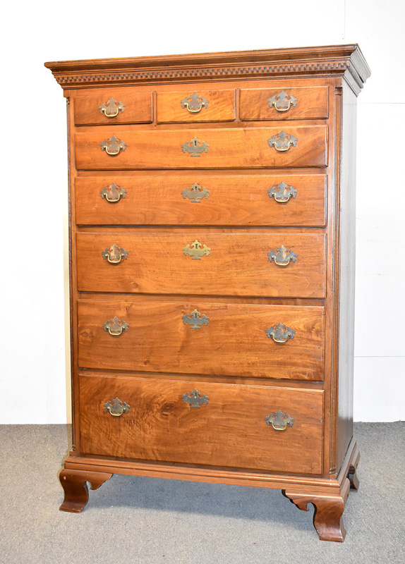 104. Delaware Valley Chippendale Walnut Tall Chest |  $885