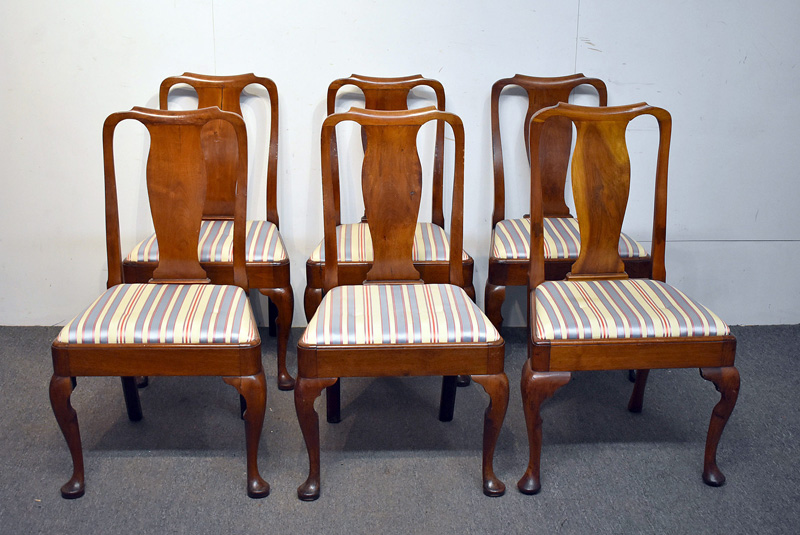 106. Six Queen Anne Walnut Dining Chairs |  $615
