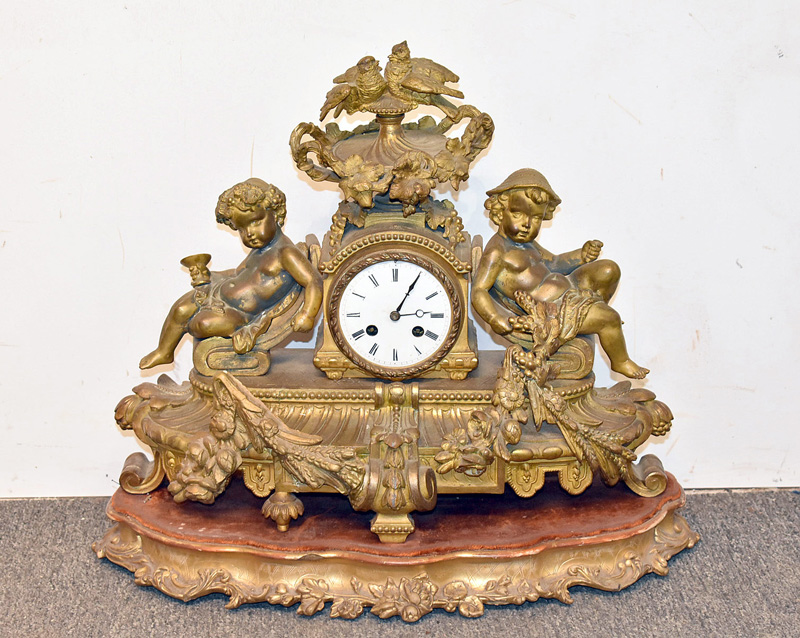 126. Phillipe H. Mourey French Figural Mantel Clock |  $246
